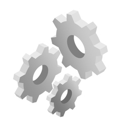 Gears isometric 3d icon vector image