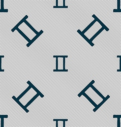Gemini sign Seamless pattern with geometric vector image