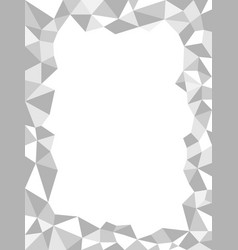 gray polygonal monochrome abstract frame border vector image