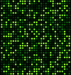 Green squares technology pattern vector image
