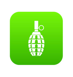 grenade icon digital green vector image