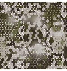 Hexagonal camouflage pattern vector