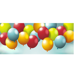 holiday background with ballons sky with white vector image