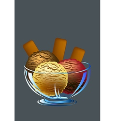 Ice creams and biscuits vector