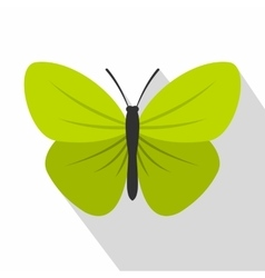 Insect butterfly with small wings icon flat style vector