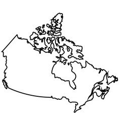 Isolated canadian map vector