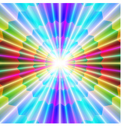Laser beams and colorful pointed shapes vector
