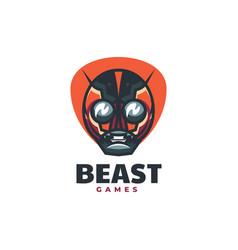 logo head robot simple mascot style vector image