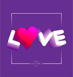 Love typography vector