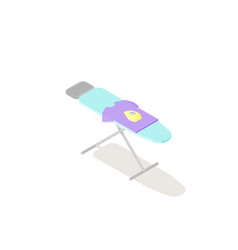 low poly isometric ironing board vector image