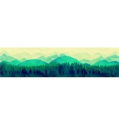 Low poly mountains landscape background vector