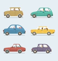 Many Style Of Cars Side View vector image