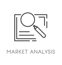 market analysis isolated icon business strategy vector image