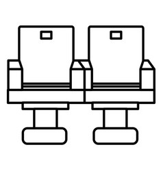 Movie theater chairs icon vector