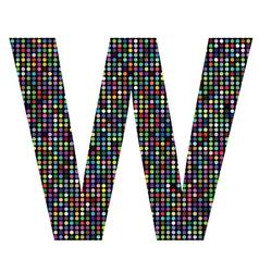 Multicolor letter W vector