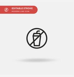 no drinks simple icon symbol vector image