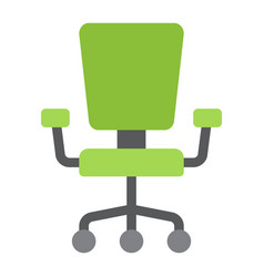 office chair flat icon furniture and interior vector image