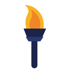 Olympic torch cartoon vector