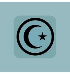 Pale blue Turkey symbol sign vector image