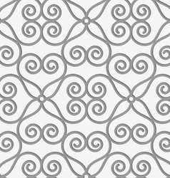 Perforated swirly flower grid vector image