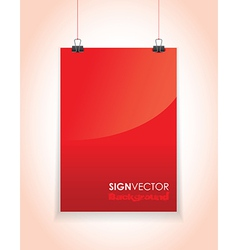 red paper sign vector image