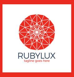 ruby luxury logo - jewelry shop vector image
