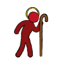 Saint joseph pictogram vector