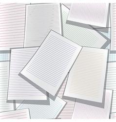 Seamless paper web site business organizer vector