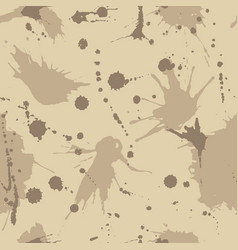 Seamless pattern with drops and splashes grunge vector