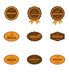 Set of retro chocolate labels vector