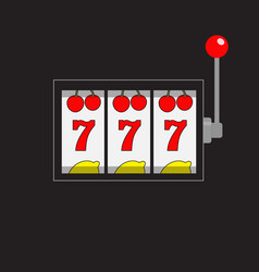 slot machine 777 jackpot lucky sevens cherry vector image