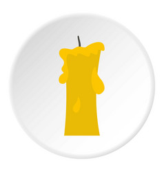 Small candle icon circle vector