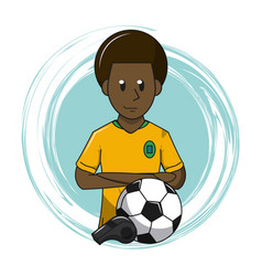 soccer cartoon elements vector image