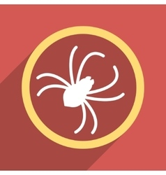 Spider Flat Longshadow Square Icon vector