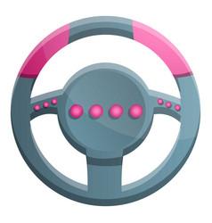 Steering wheel gamepad icon cartoon style vector