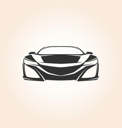 stylish sport car vector image