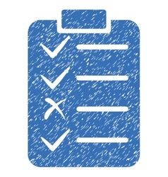 Task List Grainy Texture Icon vector