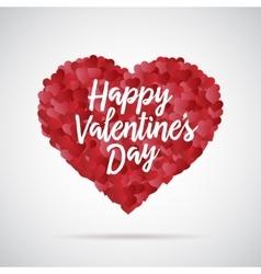 valentine day heart decorative background vector image