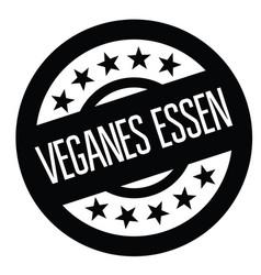 Vegan food stamp in german vector