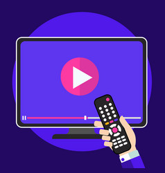 video tutorials on tv icon concept study and vector image