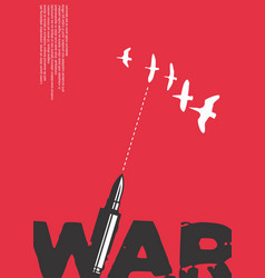 war poster design vector image