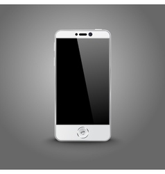 White modern smart phone with black screen vector