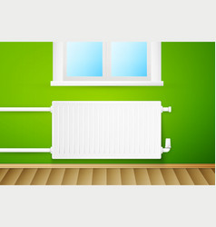 white realistic heating radiator vector image