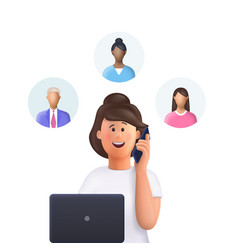 young woman jane at a meeting assignment vector image
