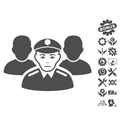Army team icon with tools bonus vector