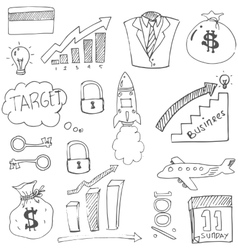 Doodle of business sketch theme vector image vector image