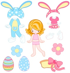 Easter dress up vector image vector image