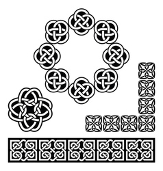 Irish Celtic design - patterns knots and braids vector image vector image
