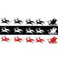 Santa sleigh and reindeers vector image vector image