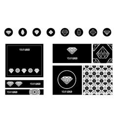 set diamond new ads vector image vector image